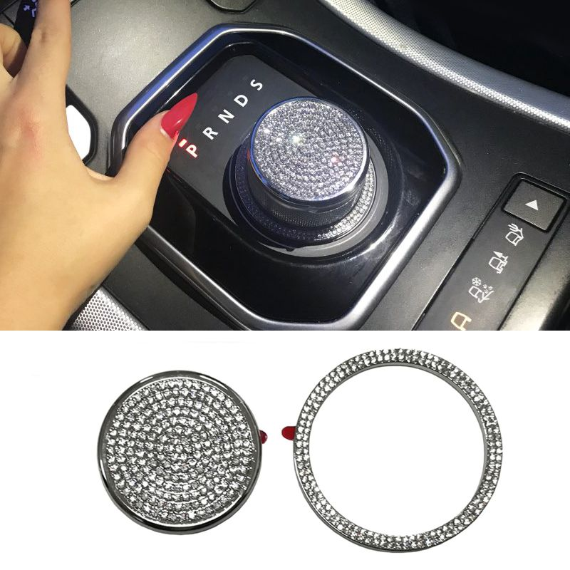 Gear shift knob cover trim sticker accessories for Range Rover Evoque for Land Rover Discovery sport Discovery 4 for Jaguar XF