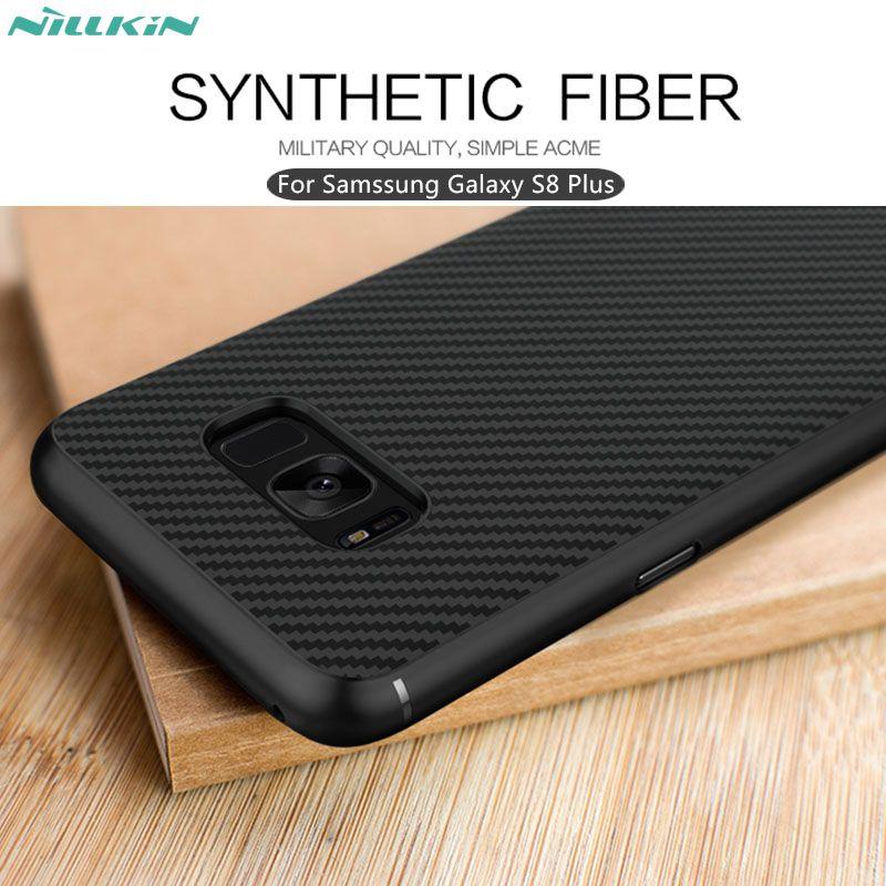 Pour Samsung Galaxy S8 Plus cas Nillkin synthétique fiber de téléphone cas pour s8 Plus Dur Carbone Fiber De PP En Plastique Cas de Couverture Arrière 6.2 «