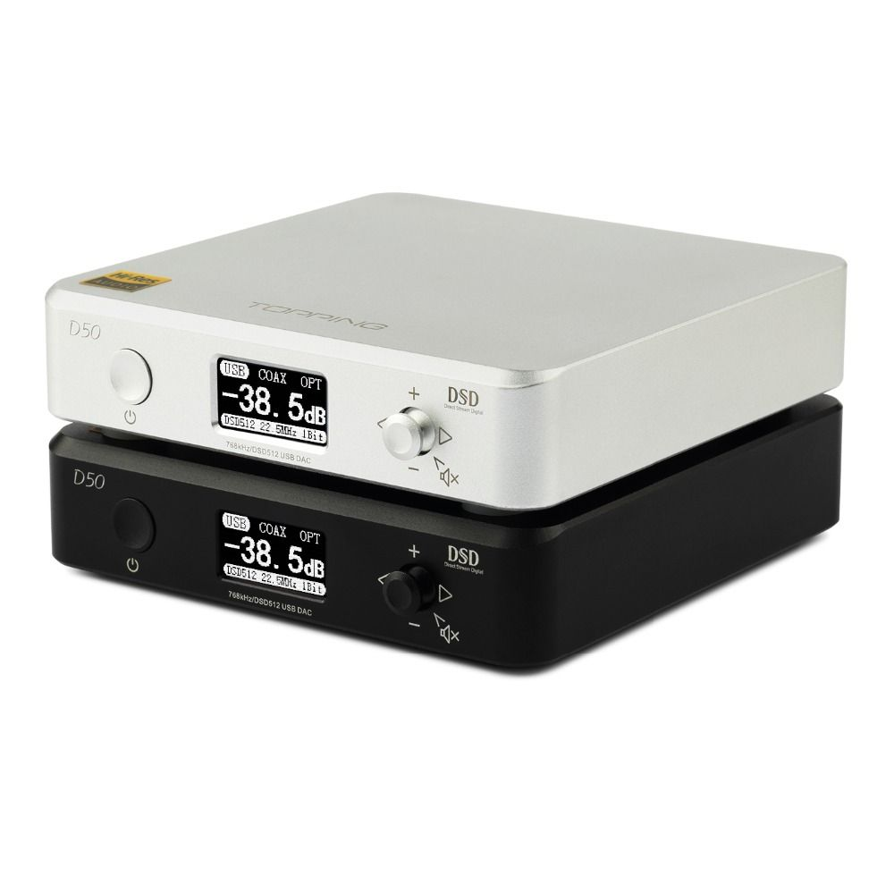NEW TOPPING D50 MINI HIFI AUDIO Decoding ES9038Q2M *2 USB DAC XMOS XU208 DSD512 32Bit / 768Khz OPA1612 USB/OPT/COAX input