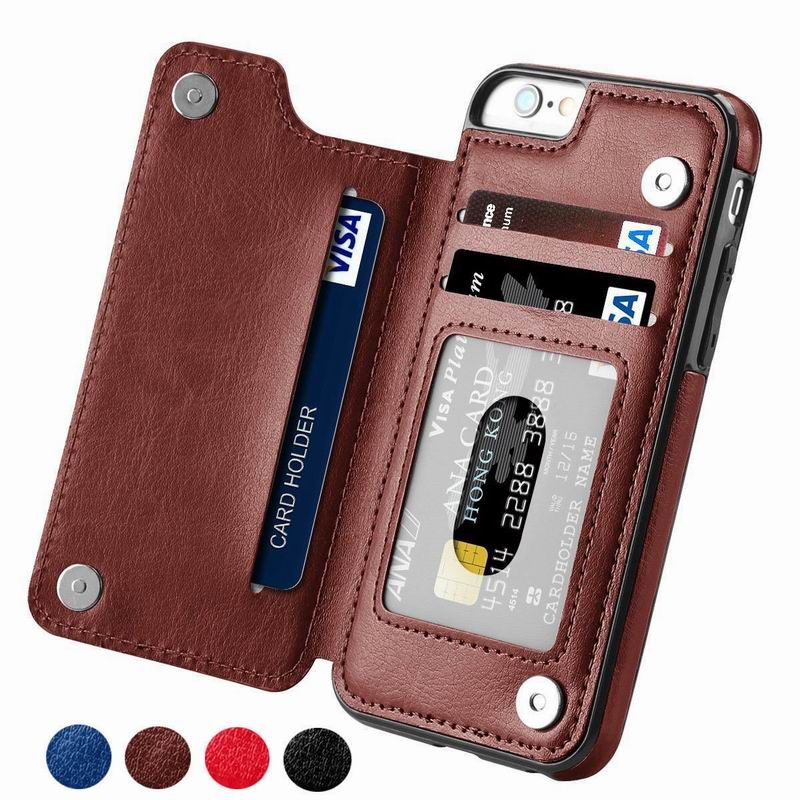 YISHANGOU Case For iPhone X XR XS MAX 5 5S SE 6 6s 7 8 Plus PU Leather Flip Wallet Photo Holder Back Cover For Samsung S8 S9 S7