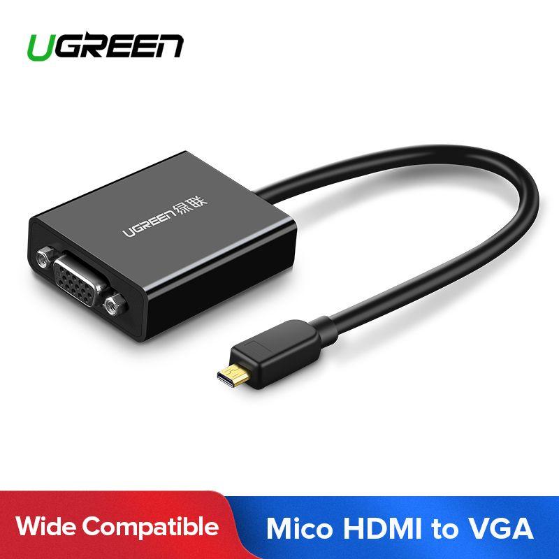 Ugreen Aktive Micro HDMI zu VGA Video Adapter mit 3,5mm Audio und Micro-USB Power für Ultrabooks Tabletten smartphones Kameras