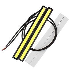 2 Pcs 17 CM LED COB DRL Feux de jour Imperméable Externe Car Styling Parking Brouillard Bar Clignotants lampes Accessoires