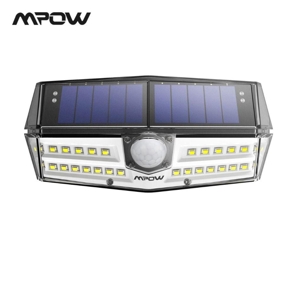 Mpow CD137 30 LED Garden Solar Lights IPX7 Waterproof Solar Lamp Wide Angle Solar Motion Sensor For Pathway Garage/Swimming Pool