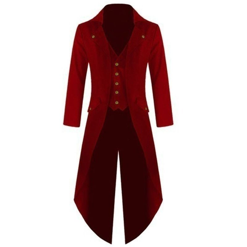 Men Coat Men 's Coats Solid Colorful Steam Punk Retro Tuxedo Men Men Dress 2017 Autumn And Winter New High Quality
