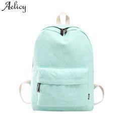 Aelicy Fashion School Backpack Women Schoolbag Back Pack Leisure Korean Ladies Knapsack Laptop Travel Bags for Teenage Girls Boy