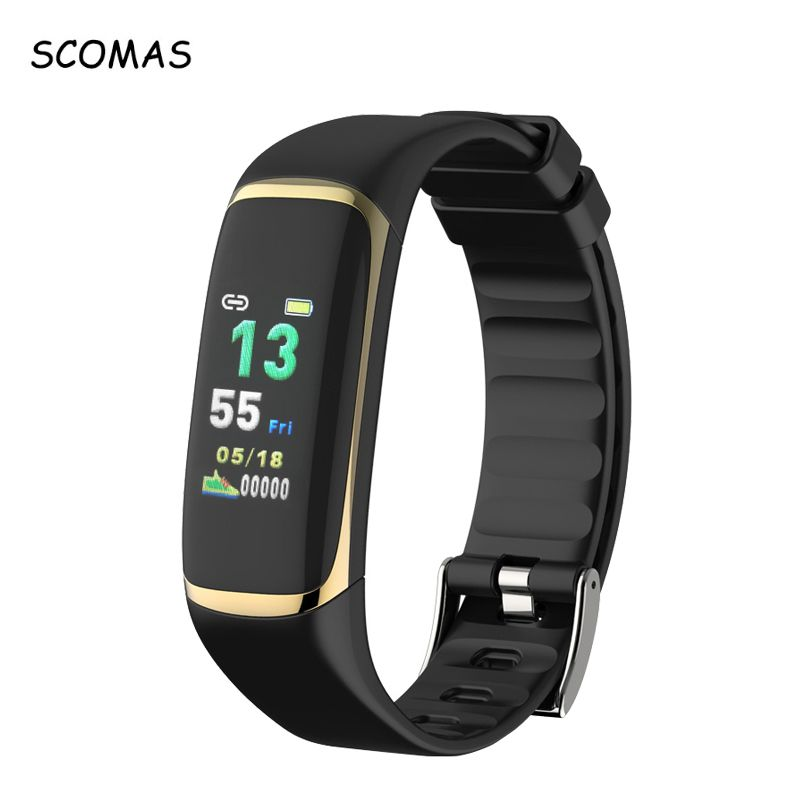SCOMAS P9 Smart Wristband Band Watch Sleep Snore Heart Rate Monitor Smartband Plusometer HRV Fatigue Test Sport Fitness Bracelet