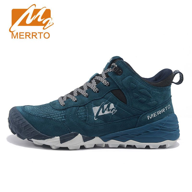 MERRTO Men's Winter Fall Leather Outdoor Hiking Trekking Boots Shoes Sneakers For Men Sport Climbing Mountain Boots Shoes Man