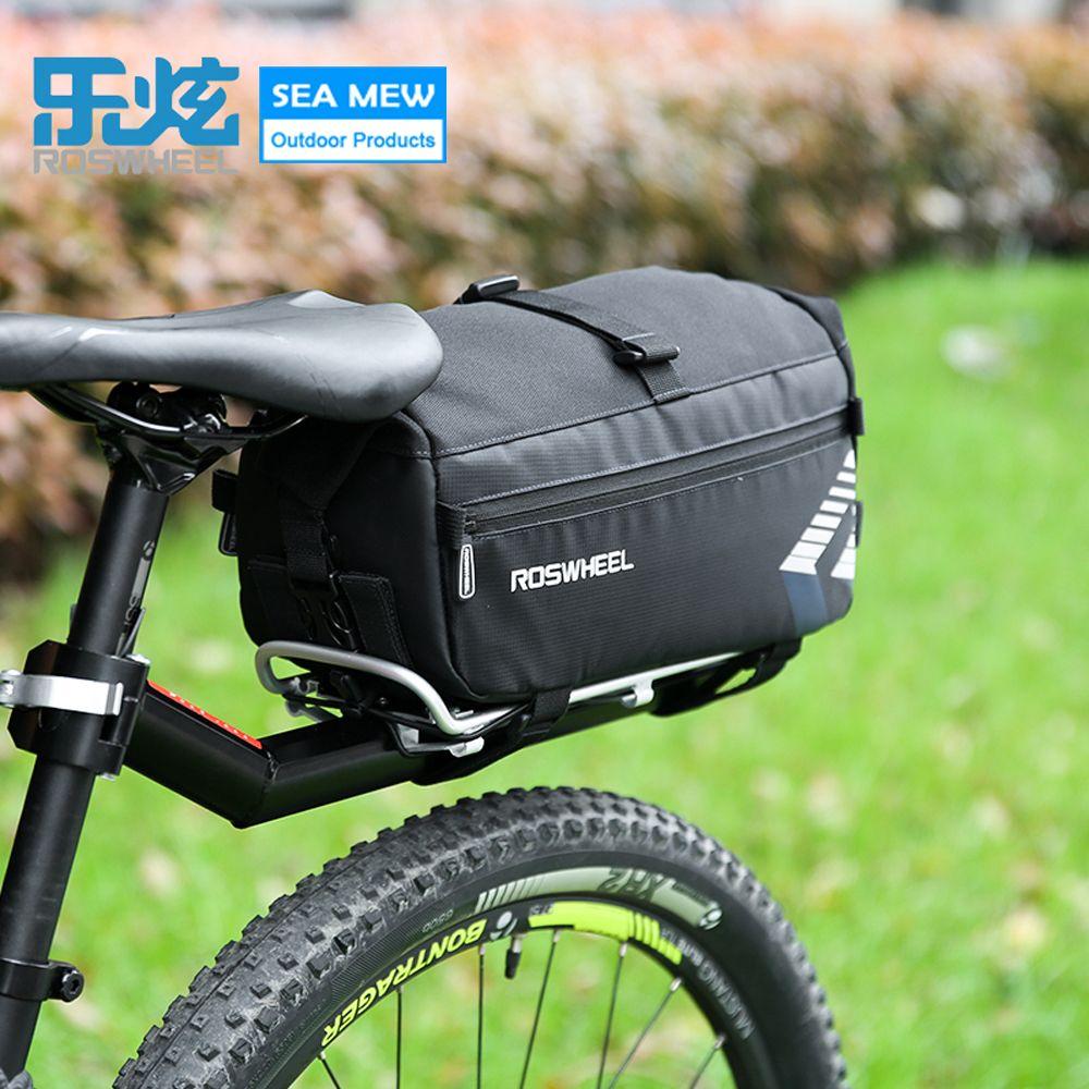 Roswheel NEW Reißfest Bag Radfahren Fahrrad Rear Seat Trunk Bag Handtasche Rück Bike Packtaschen Mountainbike Zubehör