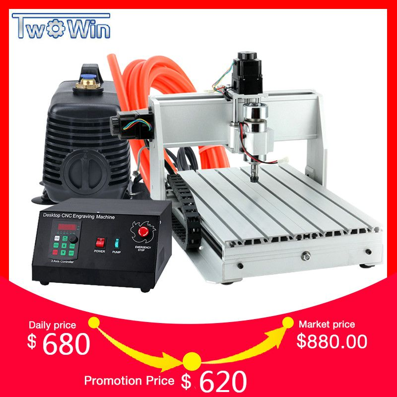 300 W 3040 T Mini CNC Maschine 3 Achse Pcb Fräsmaschine Holz Router cnc Router mit MACH3 Control Arbeits bereich 390x280x55mm