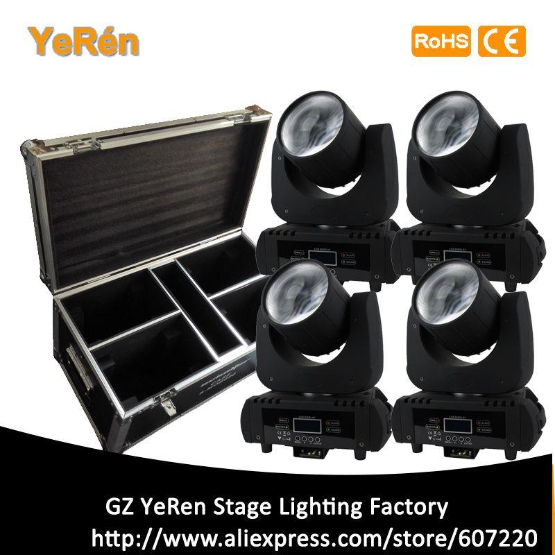(4 Pack in flight case) B60 Led Moving Head Light Beam 60W Led Lamp DMX 11 Channels Stage Light DJ Lighting