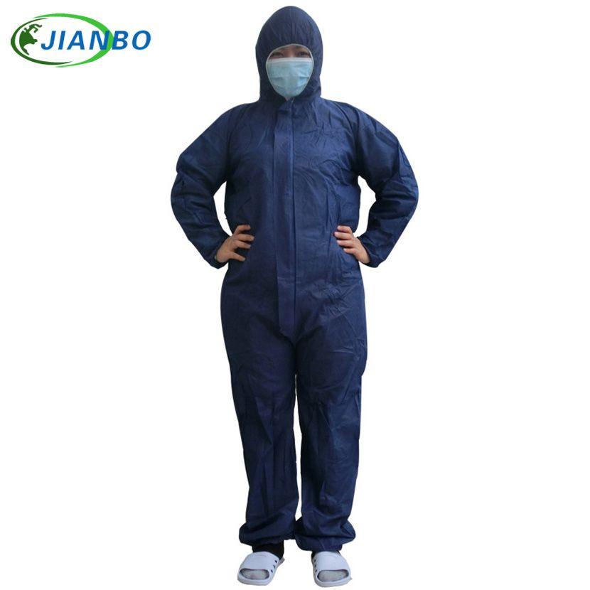 Combinaison de Protection jetable Protection de sécurité Non-tissé anti-poussière vêtements salle blanche vêtement à usage unique à capuche costume manteau
