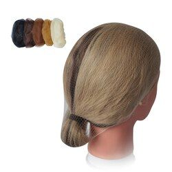 100 шт./пакет черный/темно-коричневый/светло-коричневый/бежевый Невидимый одноразовый тончайший эластичный край сетка для волос нейлоновая ...