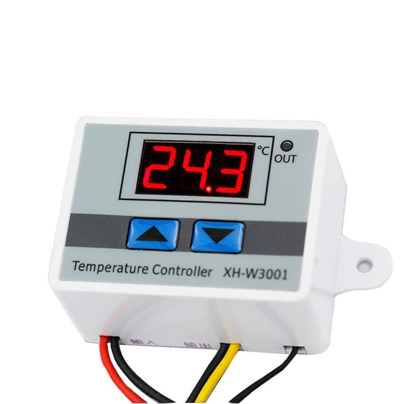 -50~110C Intelligent Digital Thermostat AC220V 12V 24V Digital Temperature Controller Regulator Switch
