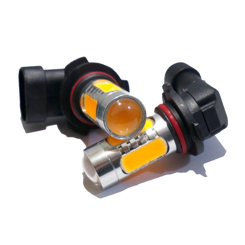 2x Car 9006 HB4 9005 HB3 H7 H1 H11 7.5 Вт LED с поворота объектива противотуманные лампа тормозной белый желтый DC 12 В Внешнее освещение