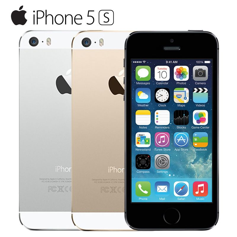 Apple iPhone 5S Original Cell Phones <font><b>Dual</b></font> Core 4 IPS Used Phone 8MP 1080P Smartphone GPS IOS iPhone5s Unlocked Mobile Phone