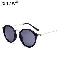 SPLOV 2018 Nouvelle Arrivée Ronde lunettes de Soleil Rétro Hommes femmes Marque Designer lunettes de Soleil Vintage revêtement miroir Oculos De sol UV400