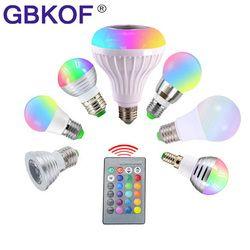 E14 E27 LED ampoule rgb GU10 110 V 220 V led lampe 3 W 5 W 7 W 12 W bombilla led 16 couleur variable ampoule led pour salon décoration