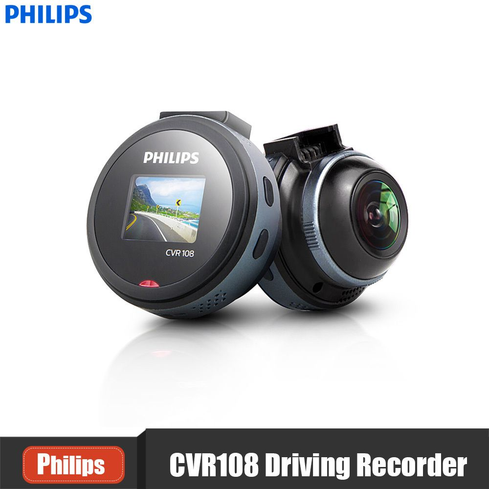 PHILIPS CVR108 1 Inch Mini Car Hidden Dash Cam 1080P 130 Wide Angle DVR Parking Monitor G-Sensor WDR Support Driving Recorder