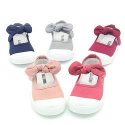 J Ghee Bébé Fille Chaussures Toile Casual Enfants Chaussures Avec Bowtie Bow-noeud Doux De Couleur de Sucrerie Filles Sneakers Enfants Chaussures Souples 21-30