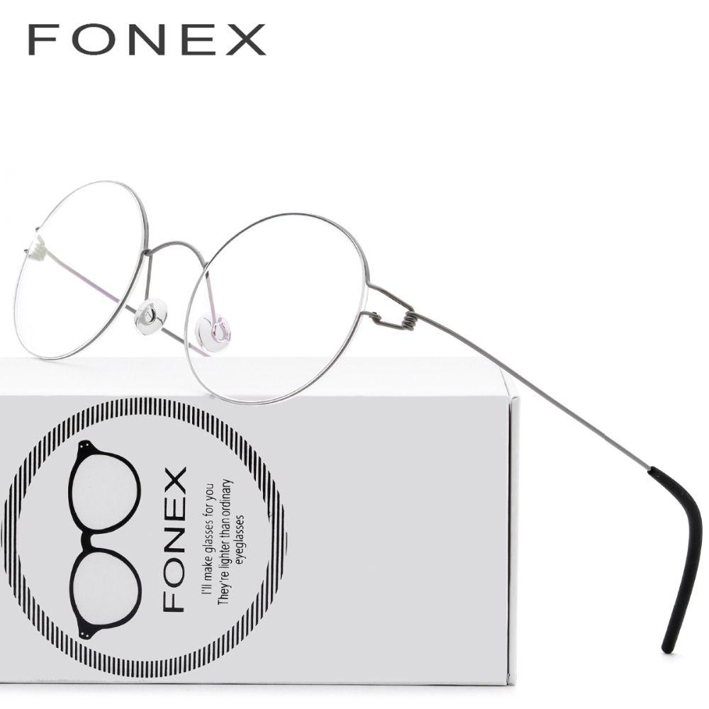 Screwless Eyewear Prescription Eyeglasses Women Ultralight 2018 Round Myopia Optical Denmark Korean Glasses Frame Men Titanium