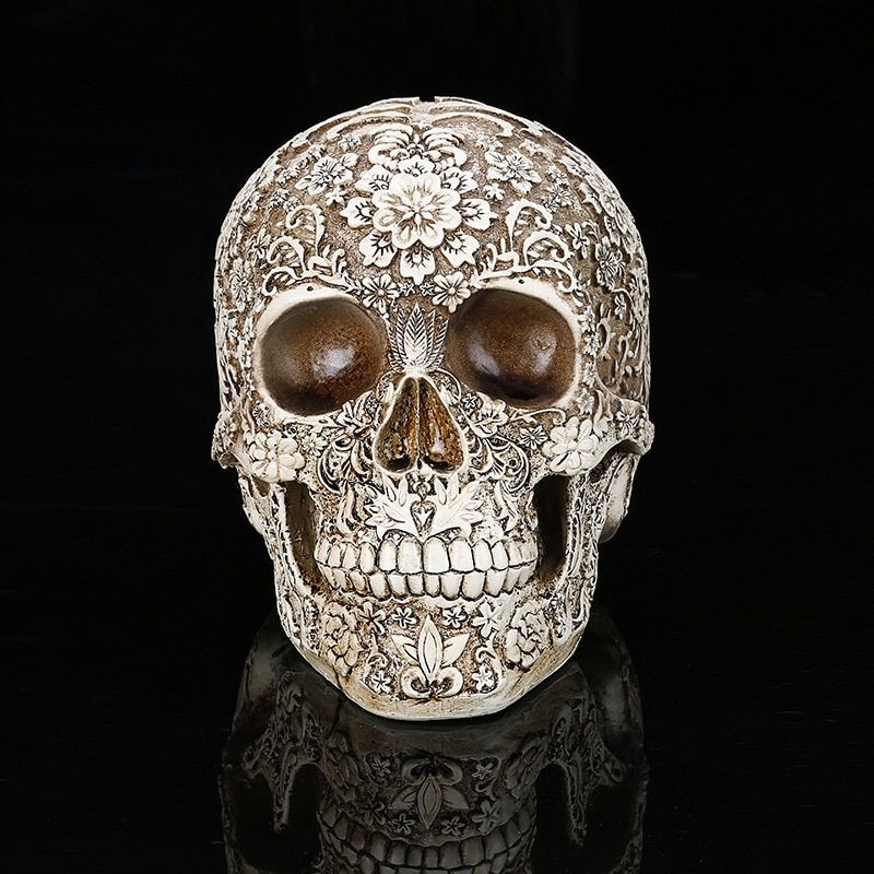QT0006 Silica gel halloween skulls silicone mold 3d Plum blossoms skull head soap cake molds kitchen halloween soap mould