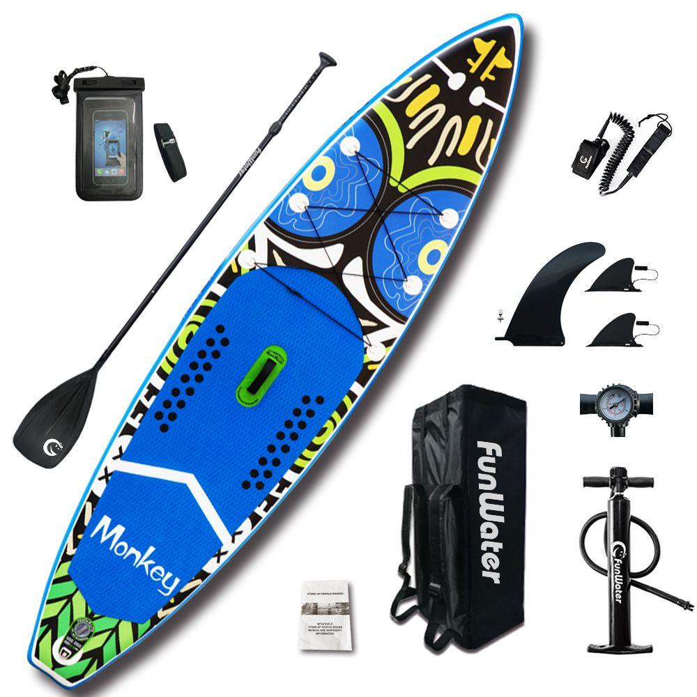 Aufblasbare Stand Up Paddle Board Sup-Board Surfbrett Kajak Surf set 11'x33''x6''with Rucksack, leine, pumpe, wasserdichte tasche