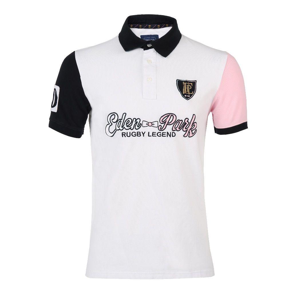 Eden Park Hohe Qualität Shark 2017 Neue Sommer Männer Polo Shirts Sweatshirt Stickerei Und Überlegen Baumwolle Materia Tops & Tees 2812