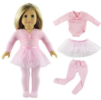 Fashion Accessories 3 Pcs Set Ballet Skirts Outfit Costume+Leggings Doll Clothes For 18 Inch American Doll