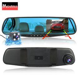 Dvr dash Cámara dash cam dvr doble lente de espejo retrovisor Cámara dashcam auto grabador de vídeo full hd delantero y trasero