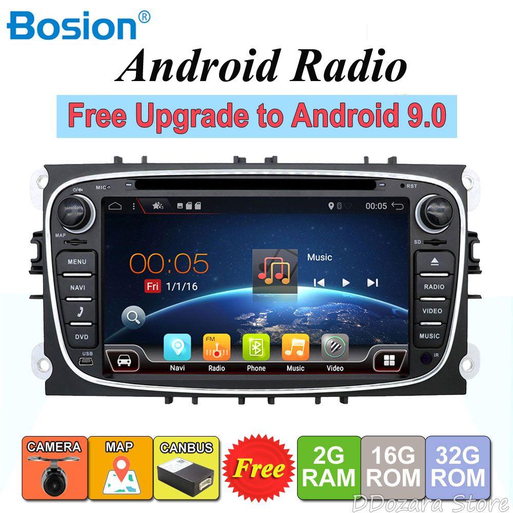 2 din Android Quad Core Auto DVD Player GPS Navi Für Ford Focus Mondeo Galaxy mit Audio Radio Stereo Kopf einheit Kostenloser Canbus