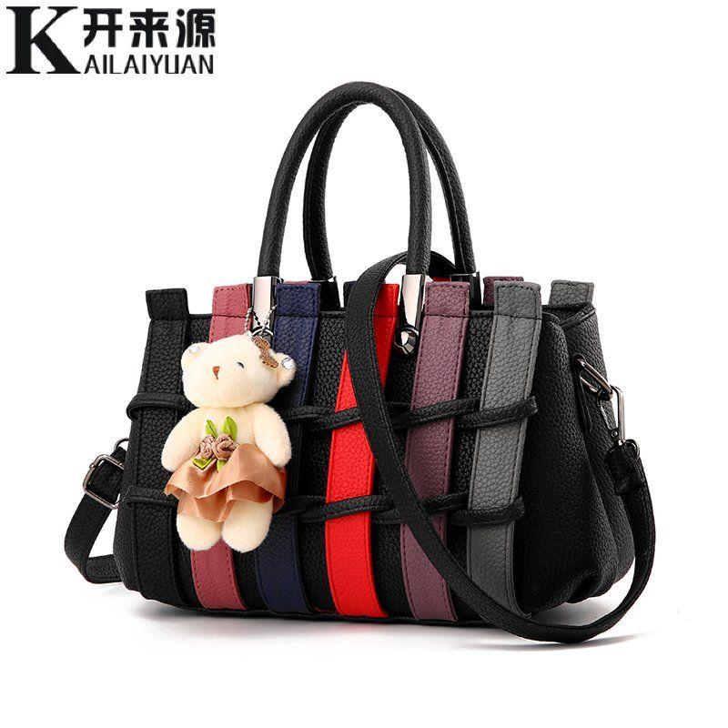 KLY 100% Genuine leather Women handbags 2018 New female Korean fashion handbag Crossbody shaped sweet Messenger Shoulder bag