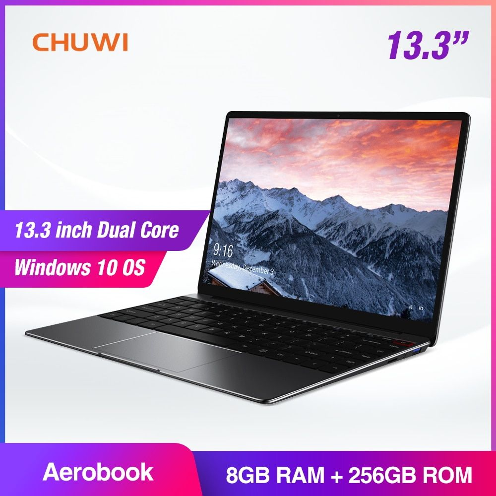 CHUWI AeroBook 13,3 Zoll IPS Notebook Intel Core M3 6Y30 Windows 10 8 GB RAM 256 GB SSD Laptop mit Backlit tastatur