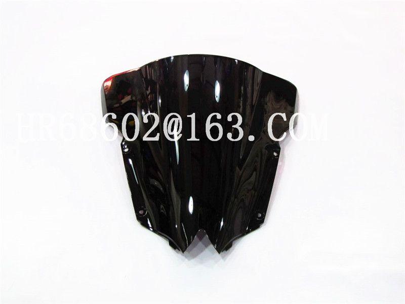 Pour Yamaha YZF600 R6 2008 2009 2010 2012 2013 2014 2015 2016 207 noir Pare-Brise Pare-Brise Double Bulle YZF 600 yzf r6