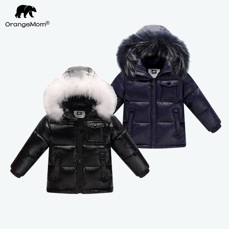 2018 winter down jacket parka for girls boys coats , 90% down jackets children's clothing for snow wear kids outerwear & coats