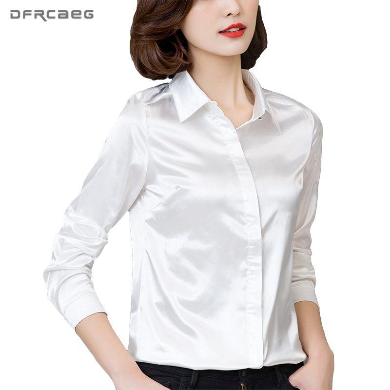 DFRCAEG grande taille femmes vêtements 2019 nouvelle mode Blouse à manches longues Blusa Feminina printemps Slim femmes chemises 7 couleurs haut pour femme