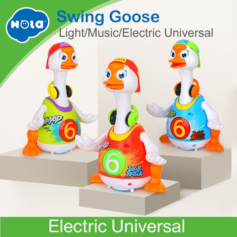HUILE TOYS 828 Baby Toys Electric Hip Pop Dance Read & Tell Story & Interactive Swing Goose Kids <font><b>Learning</b></font> Educational Toys Gifts