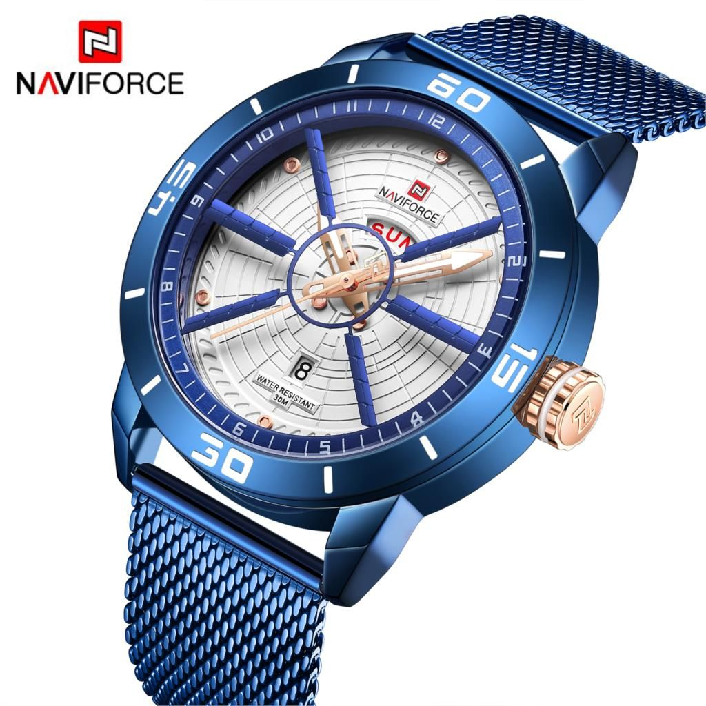 NAVIFORCE hommes montres Top marque de luxe Sport montre maille acier Date semaine étanche Quartz montre pour hommes horloge Relogio Masculino