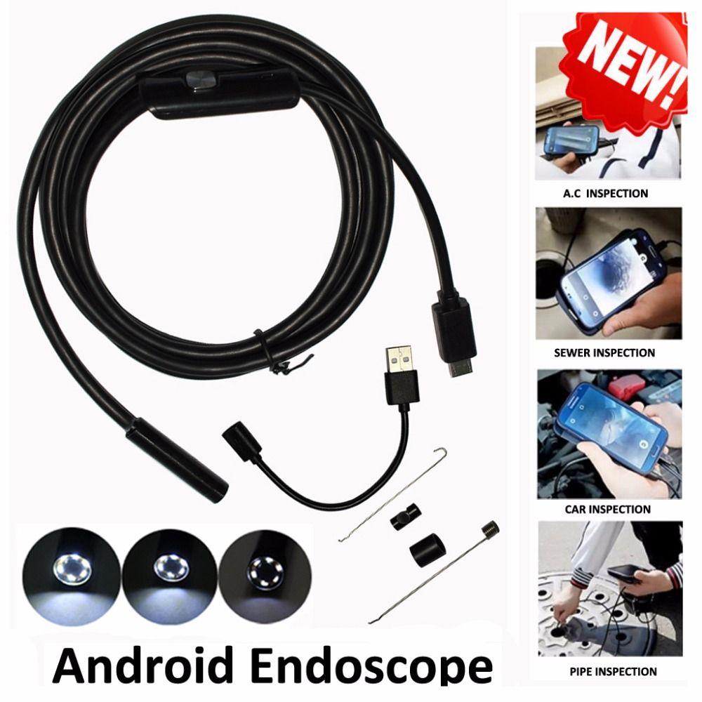 1 m/2 m/3.5 m 5.5mm Len 5 M Android OTG USB Endoscope Caméra Serpent Flexible tuyau D'inspection Android Téléphone USB Endoscope Caméra