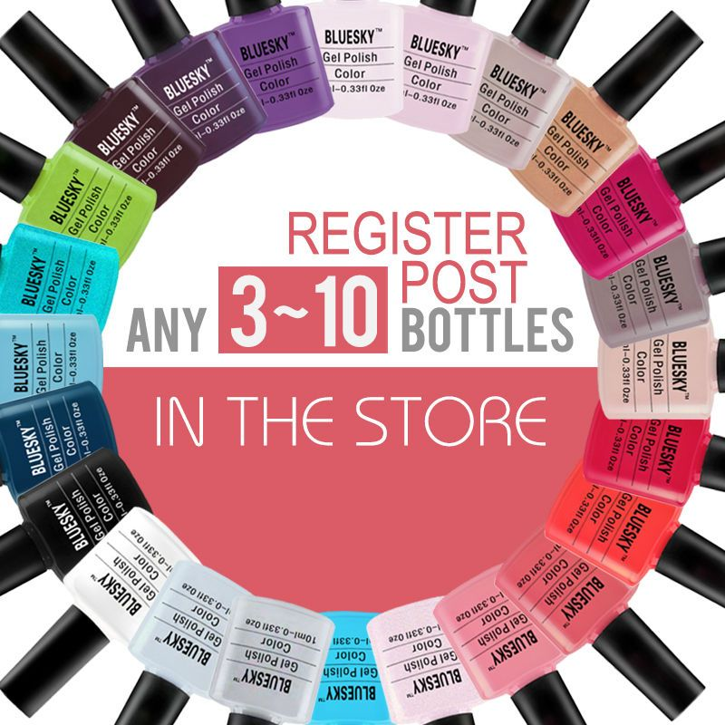 Любой 2-10bottles в магазине 100% Bluesky классические Serise Самые популярные с блестящими цветами гель для ногтей, УФ гель лак для ногтей