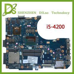 KEFU N551JM Pour ASUS G551JM Carte Mère N551JM REV2.0 processeur I5-4200U HM86 DDR3 VRAM 100% entièrement Testé