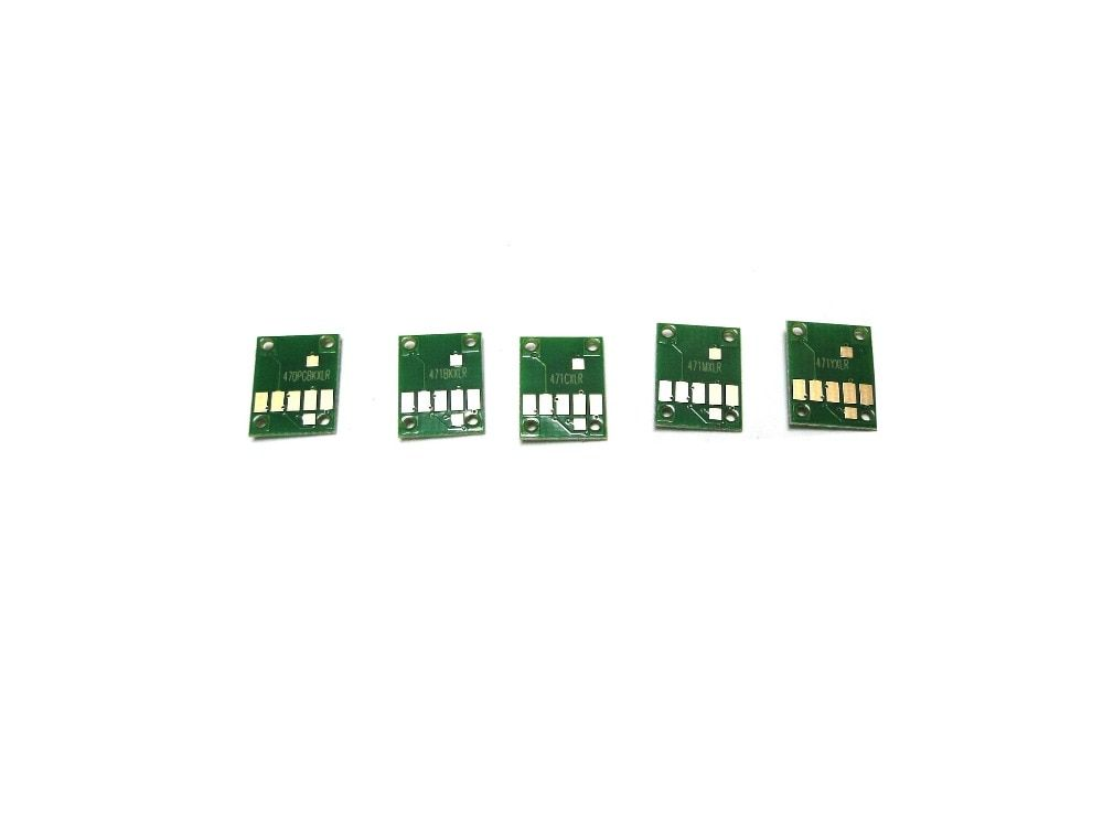 5 Color Permanent Chip for Canon PGI-470 CLI-471 For Canon PIXMA MG6840 MG5740 TS5040