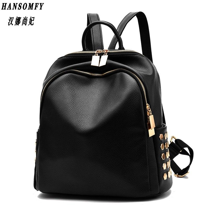 100% Genuine leather Women backpack 2017 New wave of women big backpack new lightweight fashion sweet ladies bag