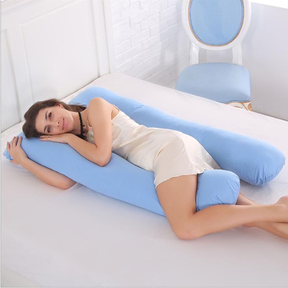 Sleeping <font><b>Support</b></font> Pillow For Pregnant Women Body 100% Cotton Pillowcase U Shape Maternity Pillows Pregnancy Side Sleepers Bedding