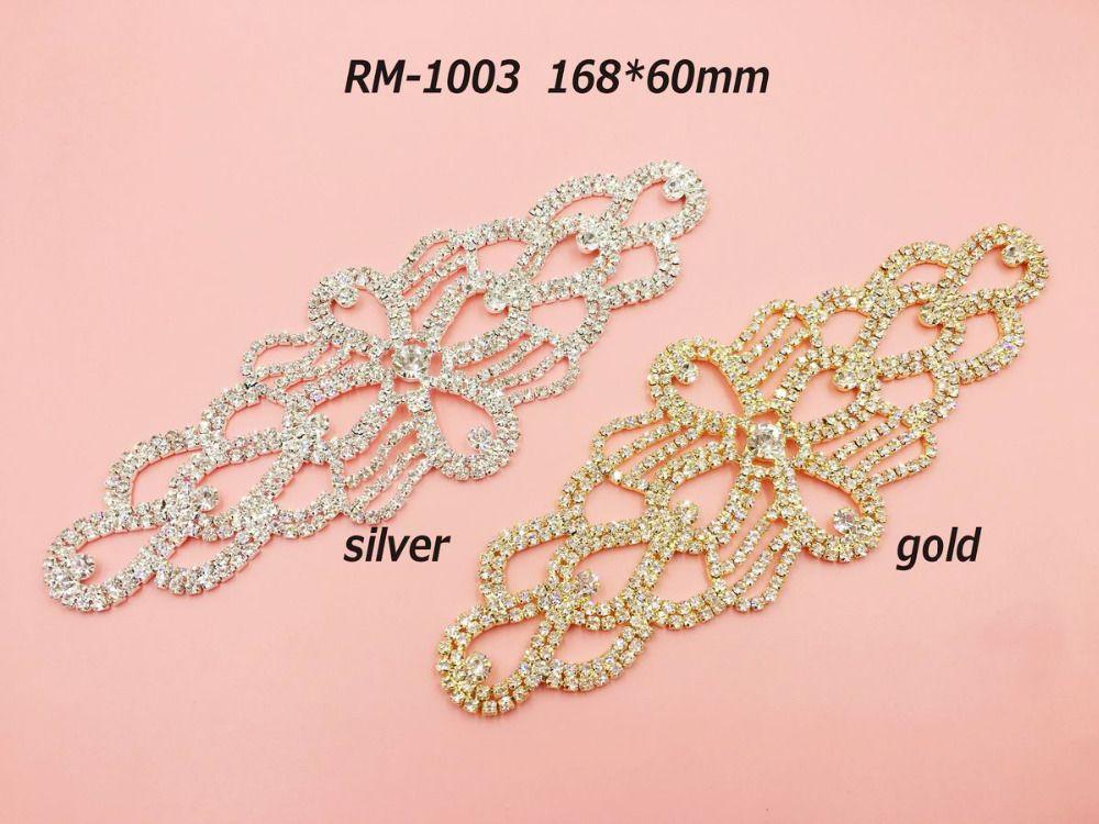 Livraison gratuite 20 PCS strass patches, cristal strass applique sash pour nuptiale de mariage robe peut mélanger couleurs (RM-1003)