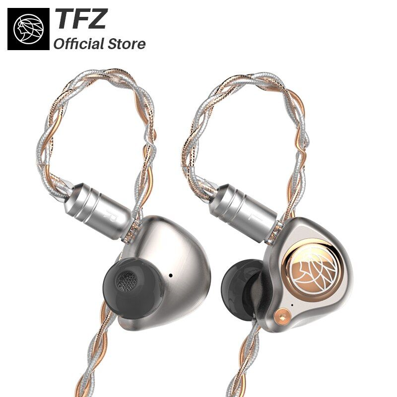 TFZ/ KING LTD Hifi Earphones,8 - core Silver-plated cable,Neckband HIFI Bass Noise Customized Dynamic Headset for iphone