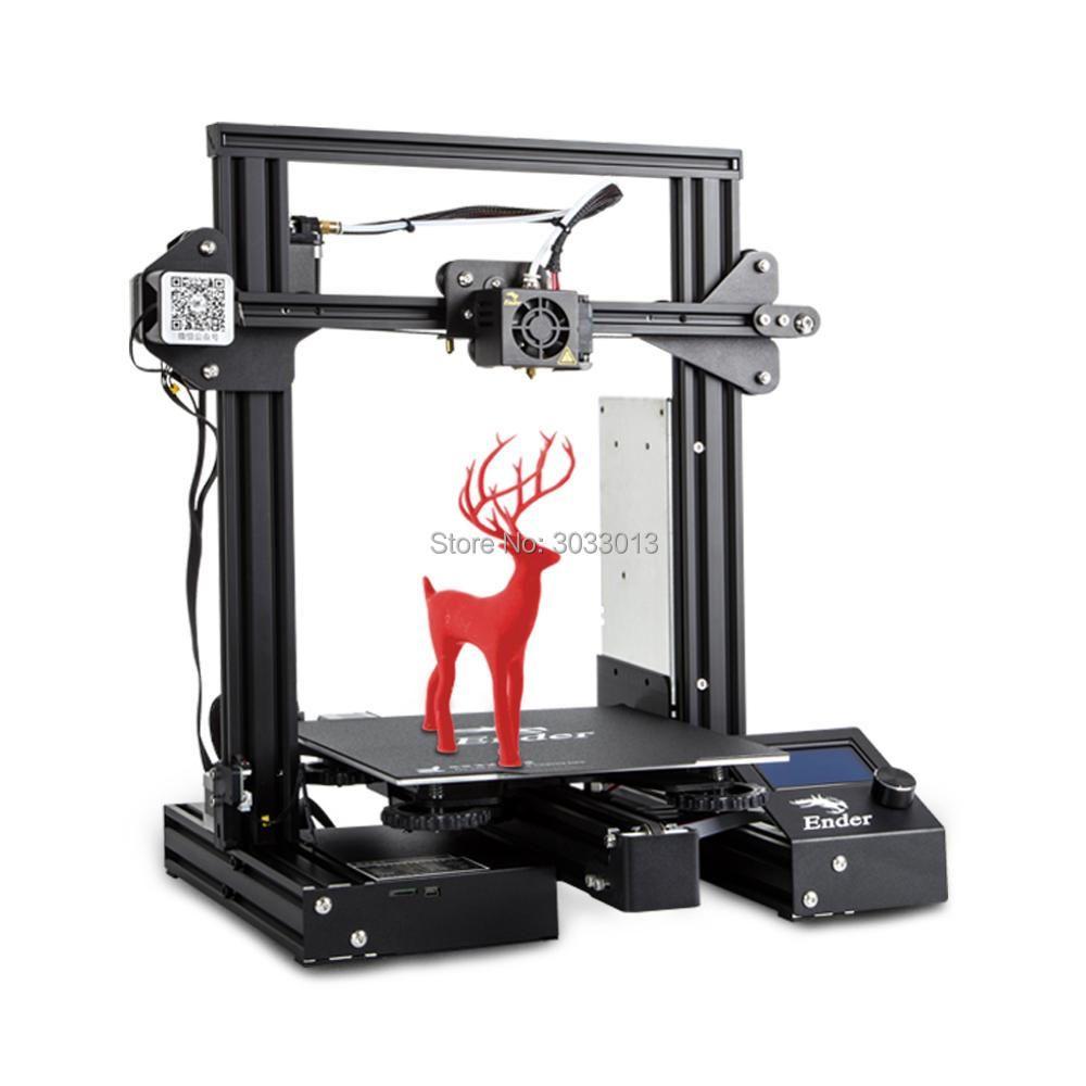 Newest 3D Printe Ender-3 Pro/Ender 3/Ender-3X DIY KIT printer 3D UpgradCmagnet Build Plate Resume Power Failure Printing