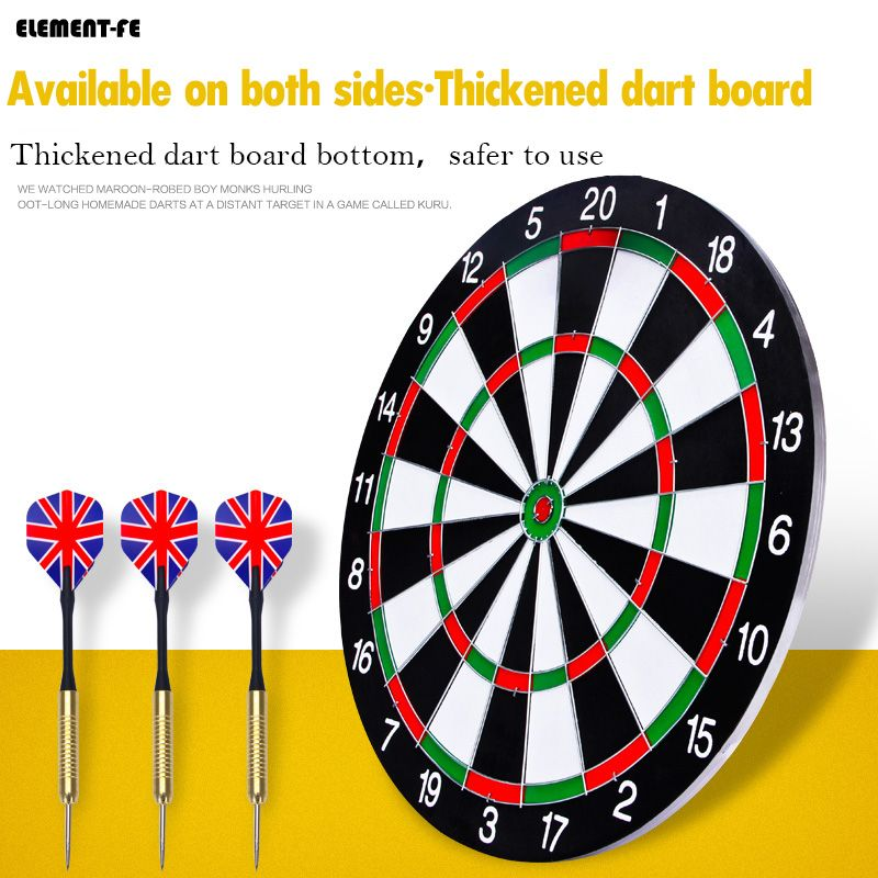 Indoor 12/15/17/18 In Target Dart Board Professional Needle Set For Kids Adults
