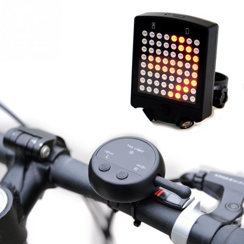 Tout nouveau feu arrière de bicyclette Laser 64 LED USB Rechargeable avec des clignotants de vélo à distance sans fil