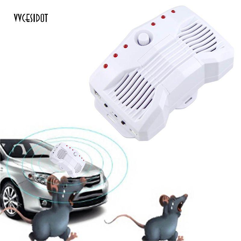 Car Rat Repeller Smart Ultrasonic Electronic Mouse Repeller