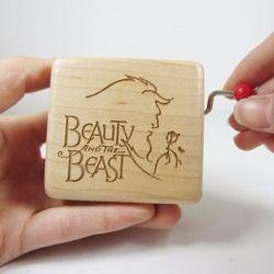 Hecho a mano Smilelife madera belleza y la Bestia caja cool marca regalos para boda cumpleaños Navidad Año nuevo envío libre